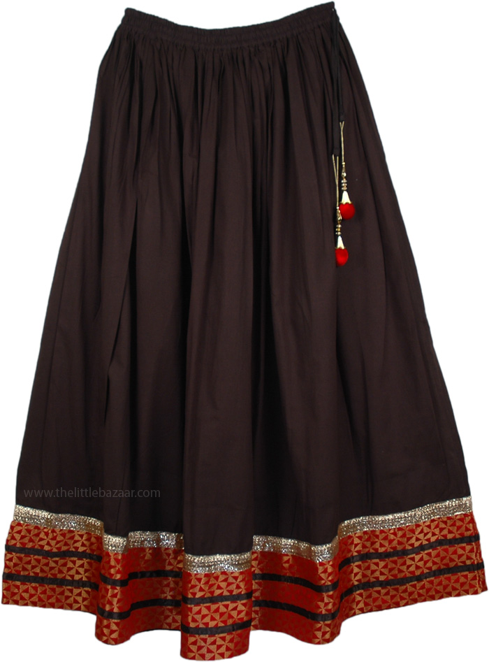 The Black Club Party Skirt, Date Night Red Black Lounge Skirt