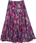 Peasant Skirt in Purple for Summer [4274]