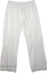 Cotton Eyelet White Pant [4279]