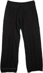 Eyelet Lace Midnight Womens Pant