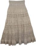 Hillary Foldover-Waist Long Skirt