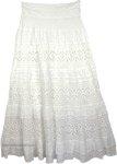 Cararra Foldover-Waist Long Skirt