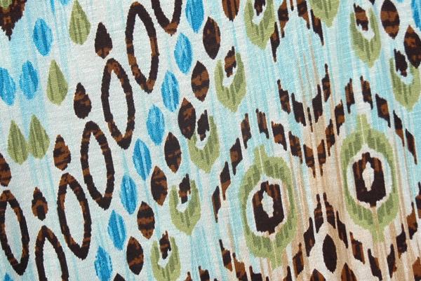 Yoga Pants Blue Printed Fold Over Waist