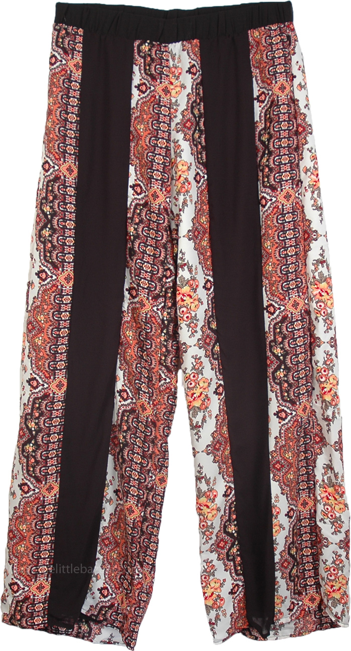 Palazzo Pants in Blue Lounge Classic, Womens Soft Printed Palazzo Pants