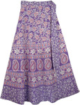Lavender Purple Womens Wrap Skirt
