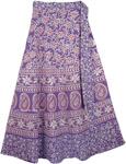 Lavender Purple Womens Wrap Skirt