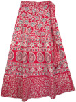 Mandy Pink Womens Wrap Skirt