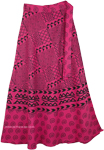 Indian Cotton Long Pink Skirt With Ethnic Print [4296]