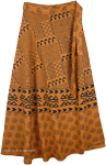 Natural Earth Long Wrap Around Skirt