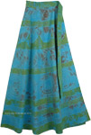 Serendipity Haze Blue Green Wrap Skirt