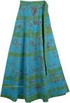 Serendipity Haze Blue Green Wrap Skirt