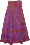 Purple Magic Cotton Wrap Around Skirt [4304]