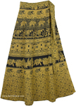 Turmeric Long Skirt With Ethnic Print [4307]