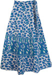 Wedgewood Leopard Print Wrap Skirt