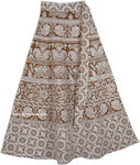 Summer Brown Derby Wrap Around Skirt