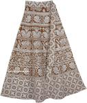 Summer Brown Derby Wrap Around Skirt
