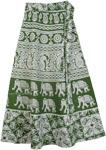 Woodland Green Wrap Around Skirt