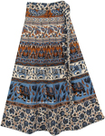 Cotton Indian Wrap Skirt With Vibrant Print [4331]