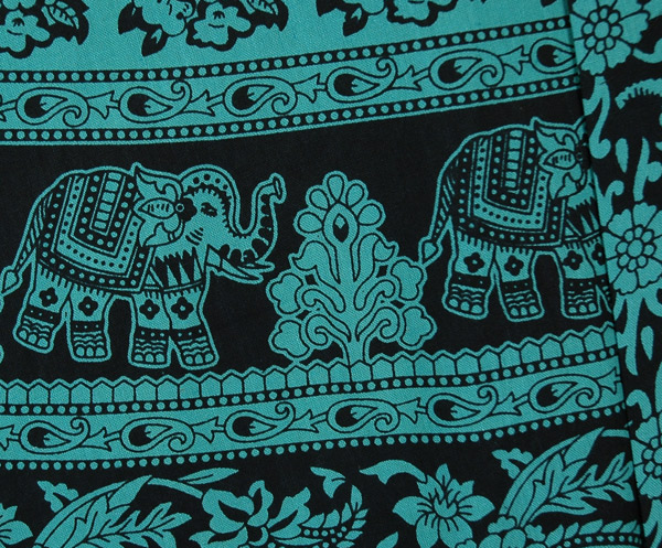 Jade Elephant Wrap Around Skirt with Floral Print