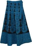 Blue Bayoux Long Tie Around Skirt