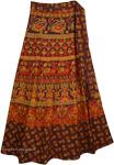Animal Cocoa Bean Ethnic Wrap Skirt