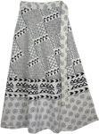 Elegant White Long Wrap Around Skirt