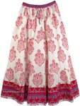Florals Cotton Printed Long Skirt [4368]