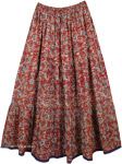 Ethnic Printed Maxi Summer Skirt [4369]