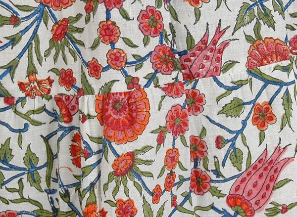 Marigold Floral Drawstring Summer Fiesta Skirt