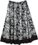 Allover Print Summer Black and White Skirt [4419]
