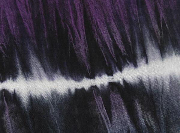Purple Tie Dye Wide Leg Drawstring Pants