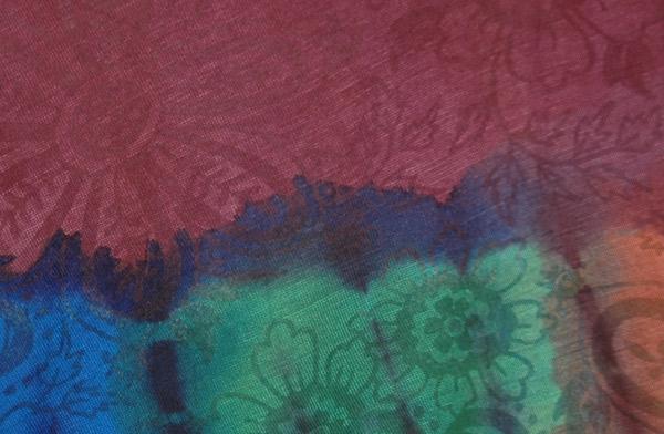 Copper Rose Soft Long Wrap Skirt