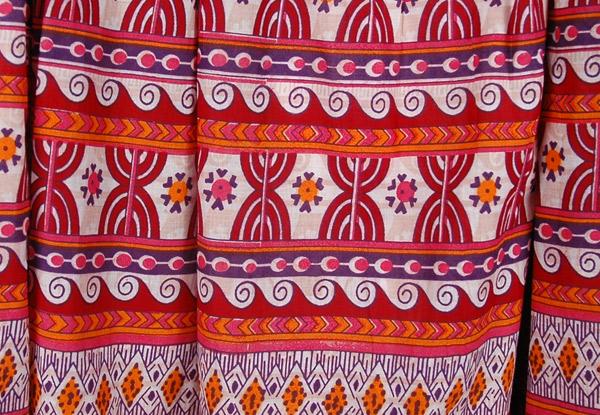 Fiery Boho Cotton Print Long Skirt