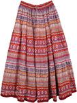 Bold Beautiful Patterns Cotton Printed Long Skirt [4466]