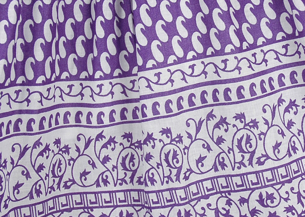 Royal Purple Cotton Long Summer Skirt