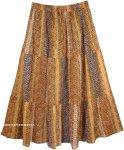 Snakeskin Print Summer Cotton Skirt [4489]