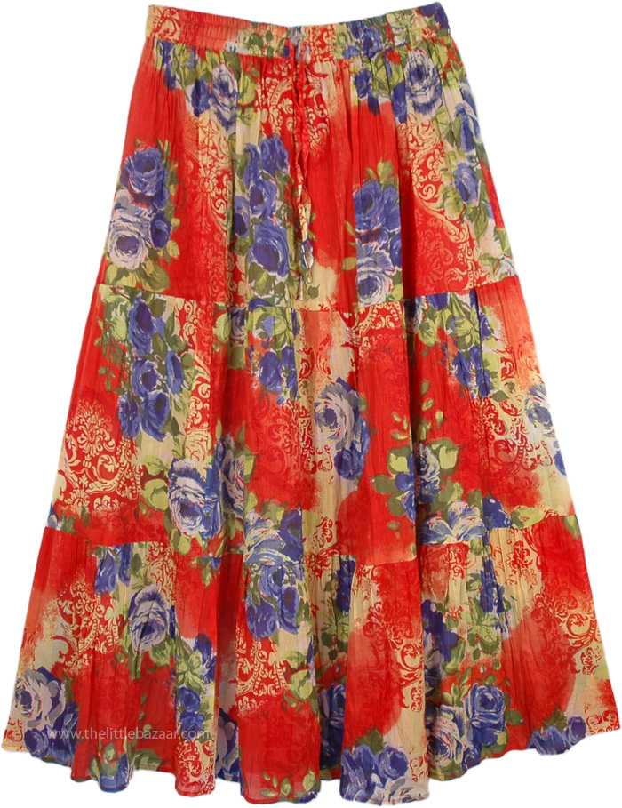 Jamaica in your Heart Summer Skirt , Fiesta Thunderbird Summer Concert Skirt