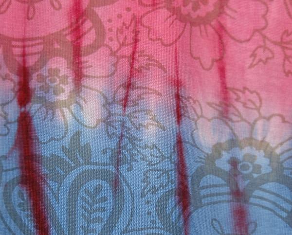 Soft Tie Dye Harem Pants with Back Splash