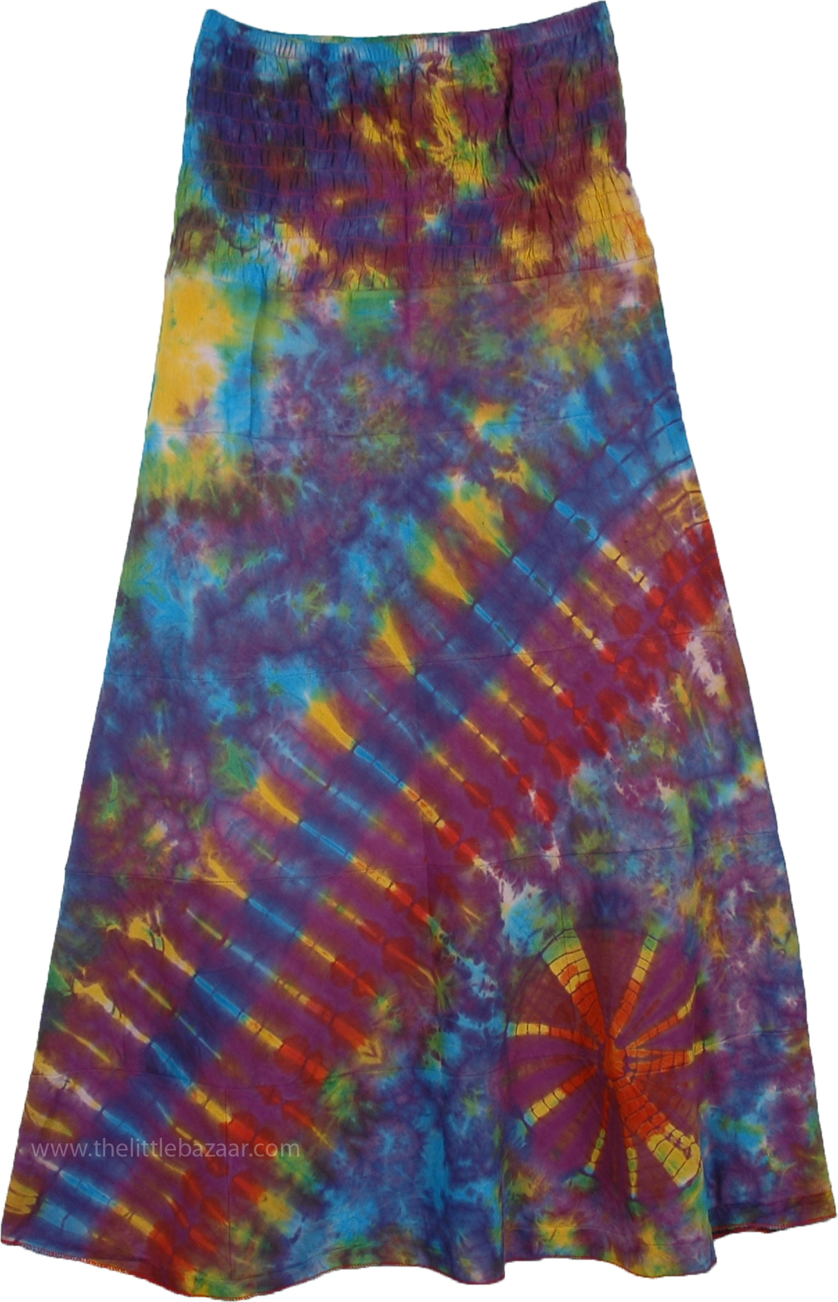 Magical Cosmos Tie Dye Skirt, Across The Galaxy Tie Dye Skirt
