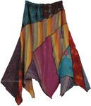 Pixie Skirt Boho Funky Edge Skirt [4574]