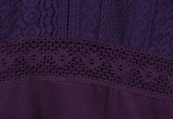 Honey Flower Lace Cotton Long Skirt