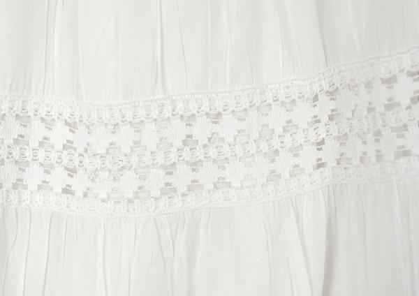 Snow White Summer Cotton Long Skirt