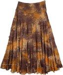 Tie Dye Marble Long Skirt [4659]