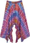 Rainbow Hippie Split Skirt  [4679]