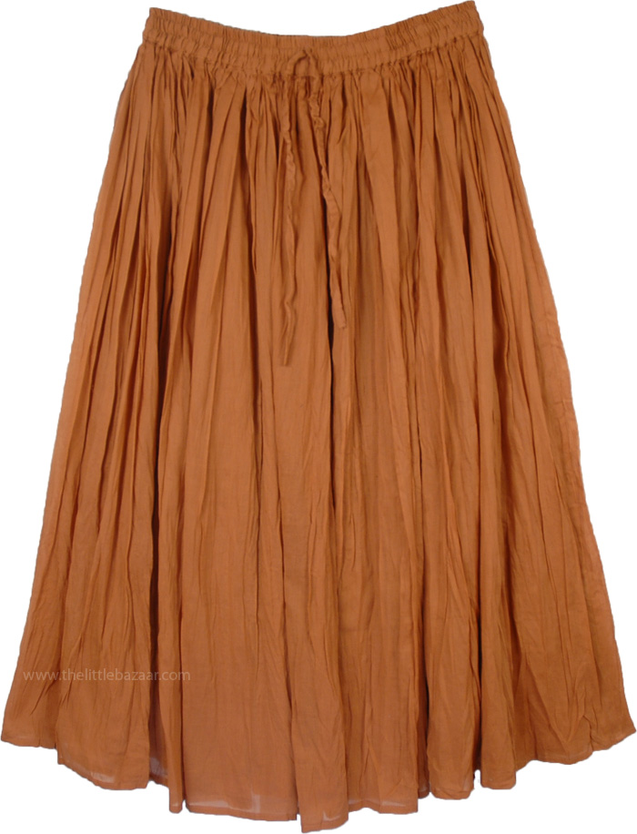 Paarl Brown Womens Skirt in Cotton, Muddy Waters Cotton Broomstick Skirt