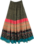 Mother Goose Cotton Printed Long Skirt