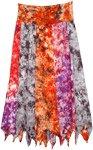 Sunset Waterfall Uneven Hem Long Skirt [4740]