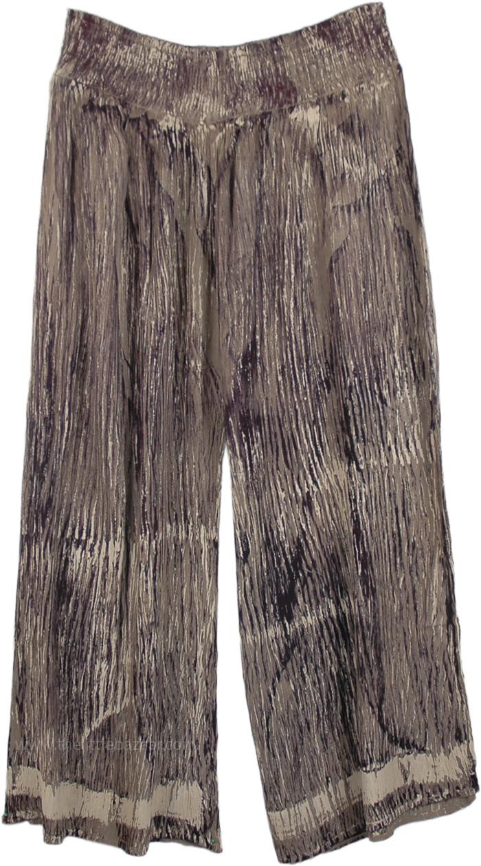 Wide-Legged Silver Split Skirt Pants, Radiant Silver Split Skirt Pants