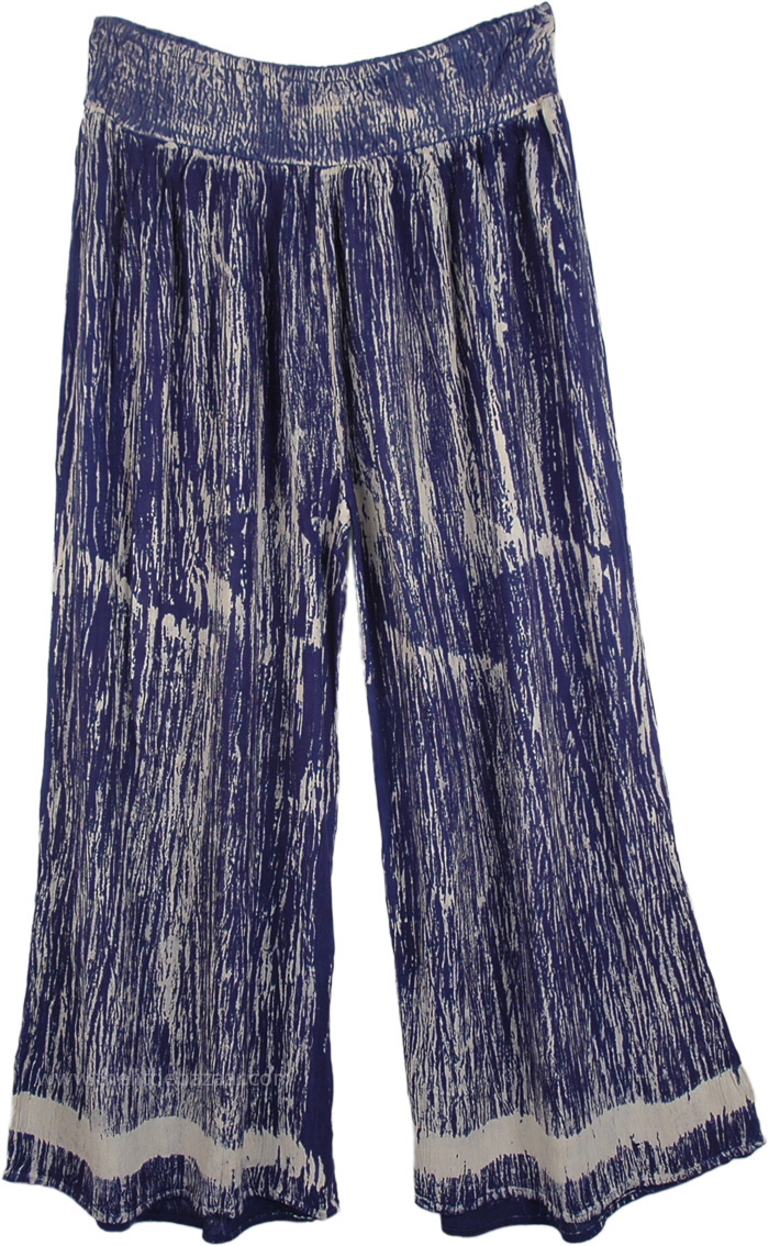 Breezy Days Wide-legged Pants in Cobalt Blue, Beach Party Palazzo Pants in Cobalt Blue