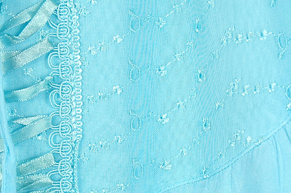Celeste Blue Renaissance Chic Embroidered Skirt